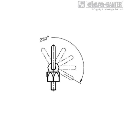 Грузовые петли (поворотные) GN 586.1 рисунок 2