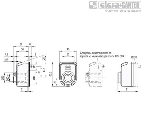 Индикаторы с прямым приводом DD52R