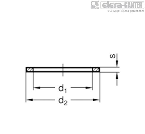 Прокладки DIN 7603 чертеж