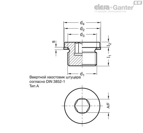 Резьбовые заглушки DIN 908 чертеж