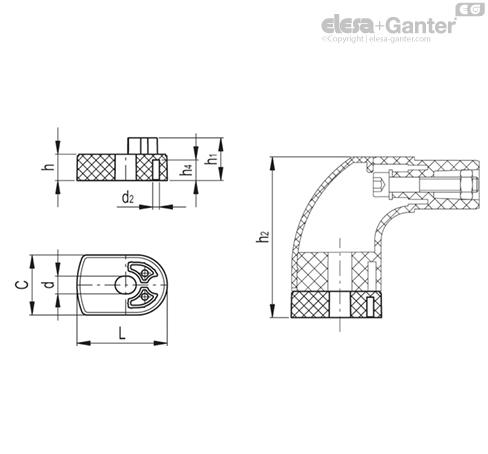 Распорные втулки для трубчатых ручек ETH.35 DS-ETH