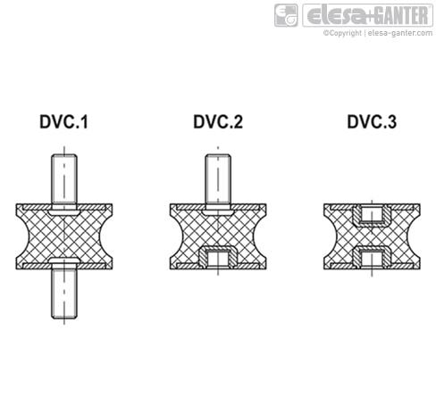 Виброгасители DVC.2 чертеж