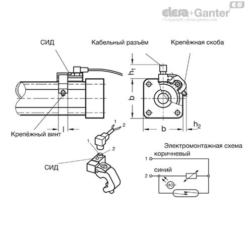 Бесконтактный выключатель GN 896.2 чертеж
