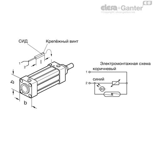 Бесконтактный выключатель GN 896.3 чертеж