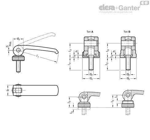 Прижимные ручки с эксцентриковым кулачком GN 927.4