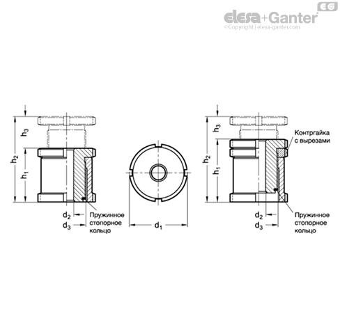 Комплекты для выравнивания GN 350-NI чертеж