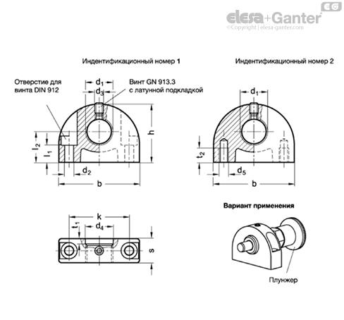 Монтажные блоки GN 412.1 чертеж