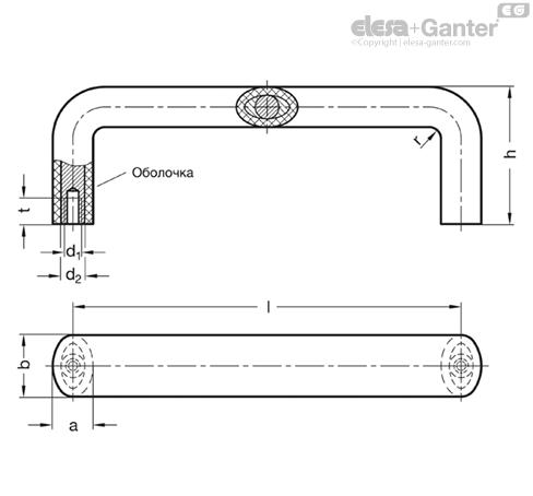 П-образные ручки для ящиков и шкафов GN 564