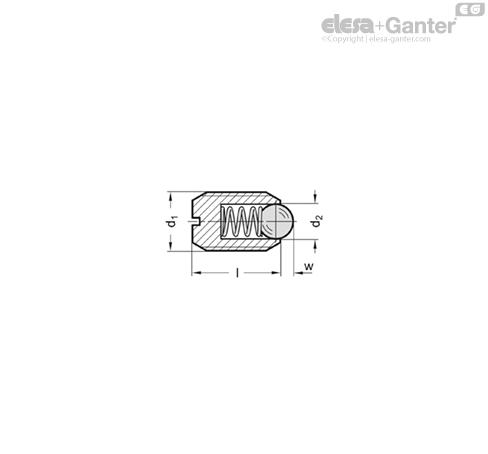 Пластиковые пружинные фиксаторы GN 615.2 чертеж