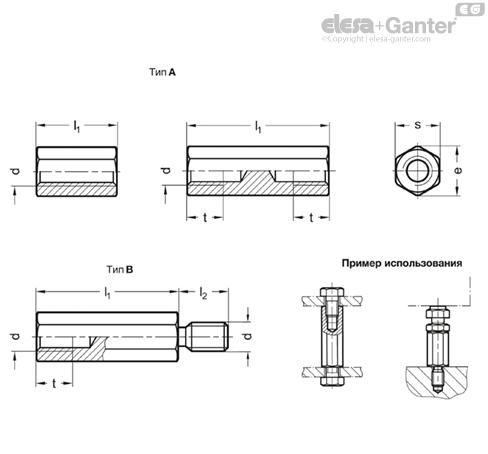 Прокладки GN 6220-NI чертеж