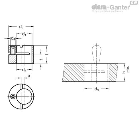 Эксцентриковые втулки GN 715.2 чертеж
