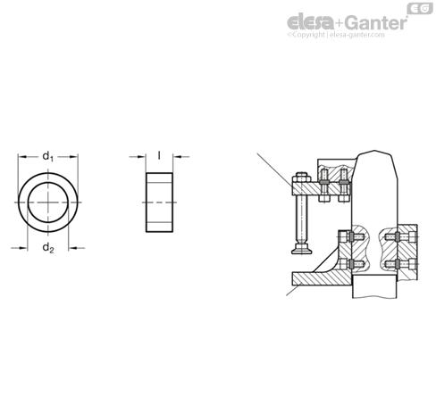 Направляющие втулки GN 870 чертеж