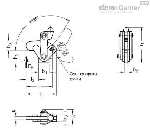Модули коленчатого рычага GN 910.3 рисунок 1