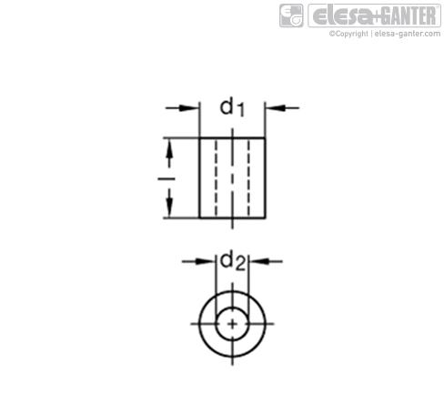 Втулки GN 910.8 рисунок 1