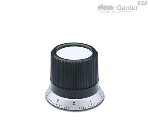 Ручки управления с накаткой IZN.380+FGS