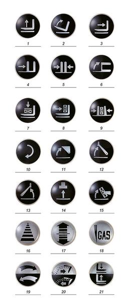 Этикетки со знаками и символами