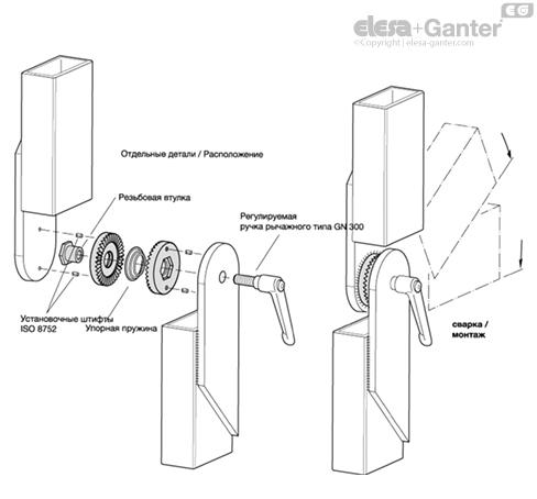 Зубчатые стопорные пластины из нержавеющей стали GN 188 пример применения