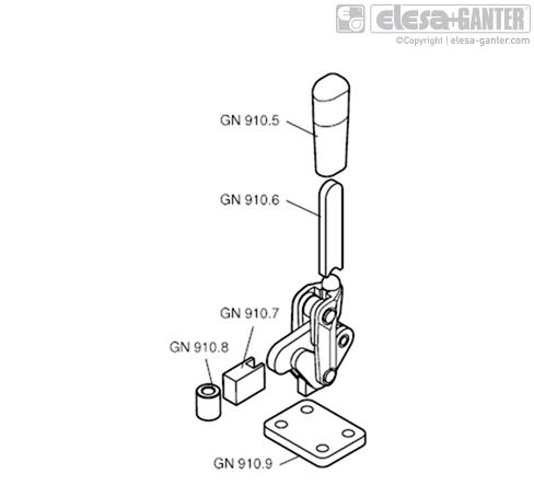 Удлинения прихвата GN 910.7 рисунок 2