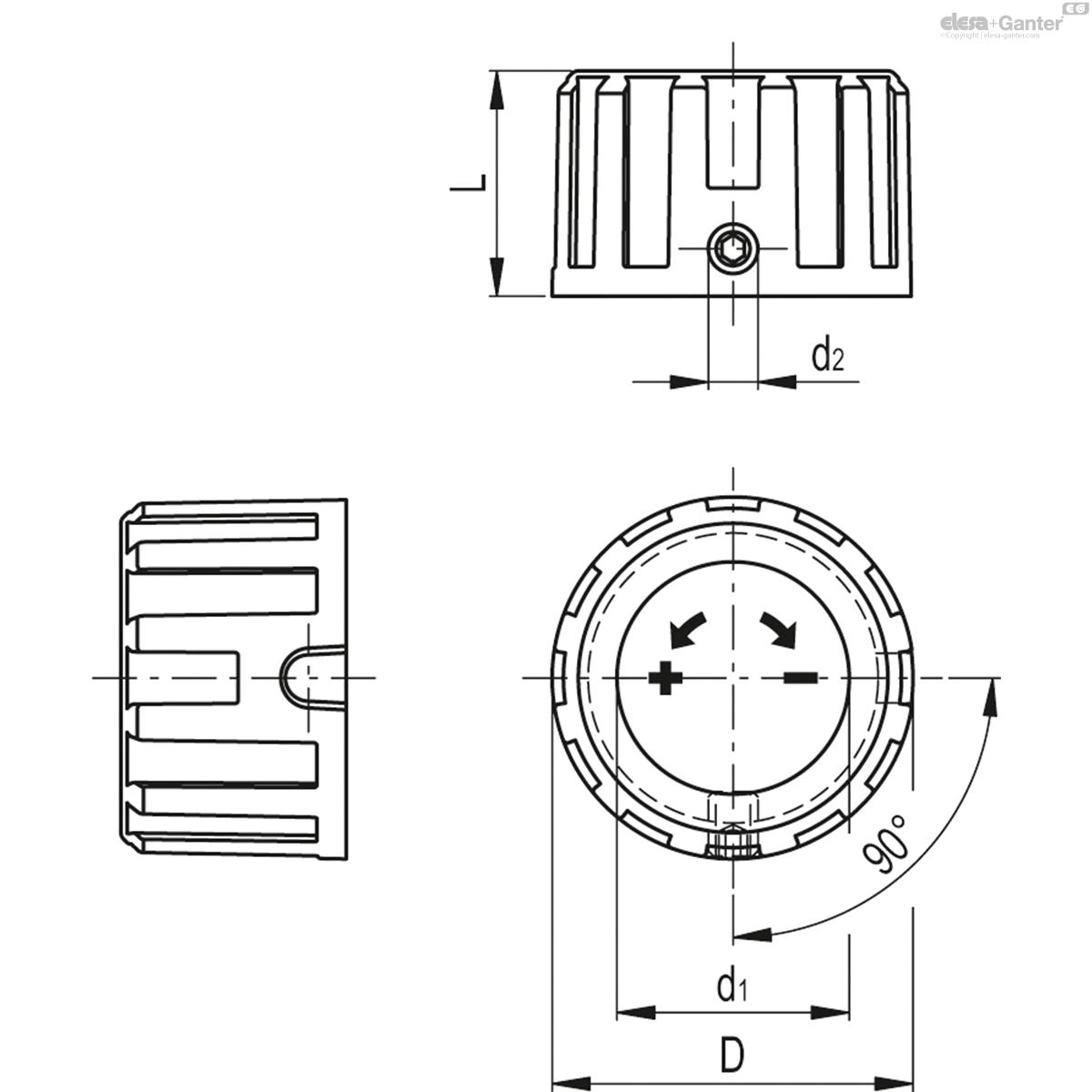 Поворотная ручка для индикаторов положения MDX-51-S