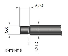 газовая пружина с подсоединением резьба