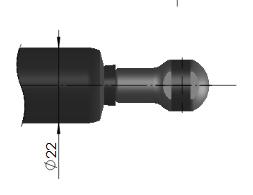 газ лифт с подсоединение шаровой шарнир 16-4