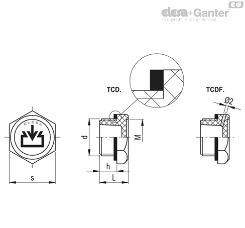 Маслозаправочные пробки TCD. чертеж