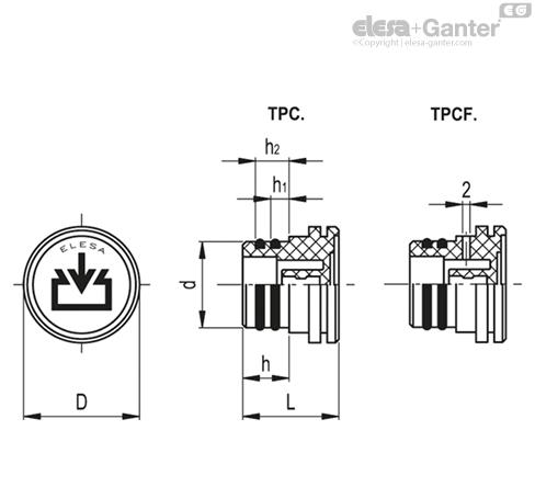 Маслозаправочные пробки TPC. чертеж