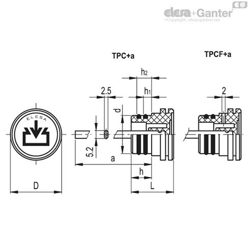 Маслозаправочные пробки TPC+a чертеж