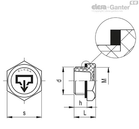 Маслосливные пробки TSD. чертеж