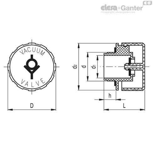 Крышки сапуна с вакуумным клапаном TVD. чертеж 1