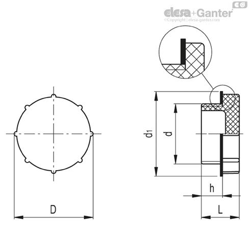 Заглушки TX-G чертеж