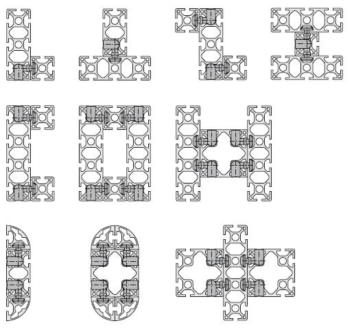 Каркасы из алюминиевого профиля