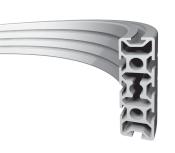 Алюминиевый конструкционный профиль изогнутый