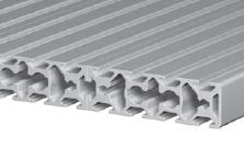 Панель со слотами из алюминиевого профиля