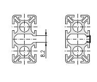 Схема алюминиевого профиля для прокладки кабеля