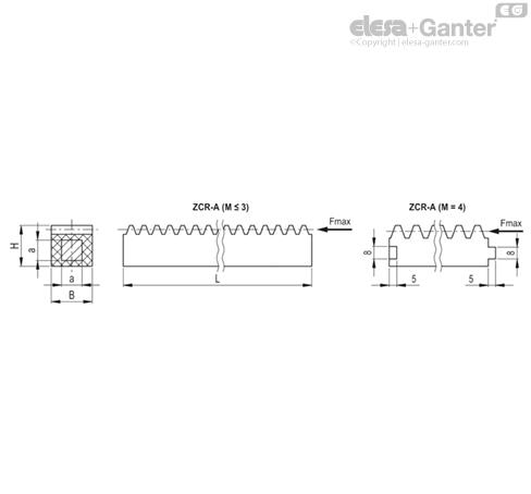 Реечные передачи ZCR-A рисунок
