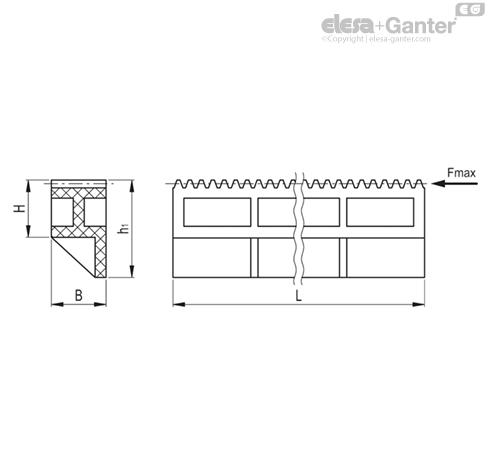 Реечные передачи ZCR-PD чертеж